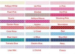 hairbow supplies 3 8 polka dot ribbon choose color and yardage hairbow supplies