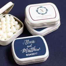 mint to be wedding favors wedding collection personalized mint tins
