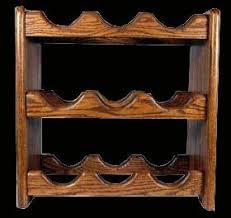 solid oak wine rack amazon co uk kitchen u0026 home