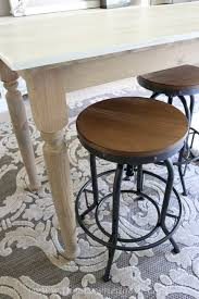 Chalk Paint Table And Chairs Diy Chalk Painted Office Chair And Weathered Barstools U2013 The
