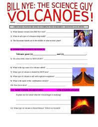 bill nye the science guy volcanoes earth video worksheet tpt