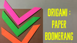 How Do You Make A Paper Boomerang - how to make an origami boomerang easy paper toys