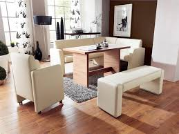 Contemporary Upholstered Bench Dining Room Modern Dining Room White Leather Upholstered Bench