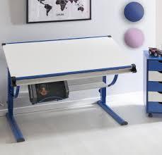 Holz Schreibtisch H Enverstellbar Kinderschreibtisch Blau U2013 U203a Preissuchmaschine De