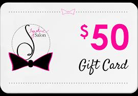 salon gift cards gift cards signature salon