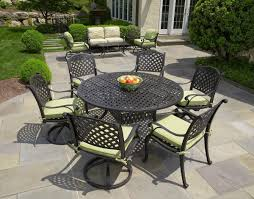 Patio Dining Set by Nassau Cast Aluminum 7pc Patio Dining Set With 60