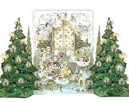 vintage christmas tree advent calendar etsy
