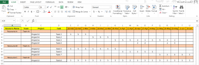 resource management excel template how to create resource planning