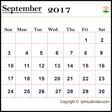 september 2017 calendar with holidays india