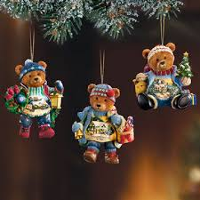 kinkade teddy ornament set 1 at treasures