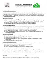 sample cover letter for surgical tech resume template example