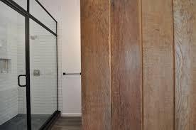 Industrial Shower Door Modern Industrial Bathroom With Organic Elements In Center City