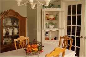 corner hutch dining room hutches cabinet home white for design