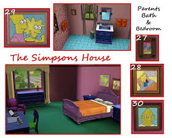 floor plan of the simpsons house