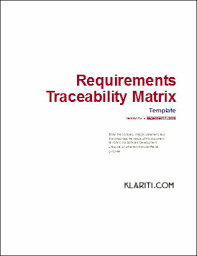 Requirements Template Excel Requirements Traceability Matrix Template Other Files