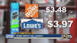 menards price match home depot vs lowe s youtube