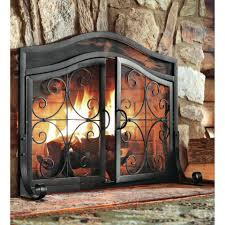 fireplace screens amazon surround screensaver plow hearth small