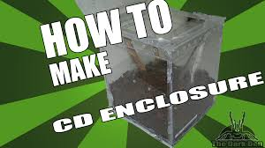 diy how to make an enclosure out of cd cases youtube