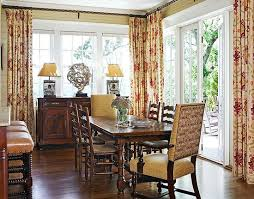 Drapes For Formal Dining Room An Antique French Dining Table Extends To Seat Twelve In This