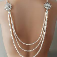 wedding backdrop necklace shop wedding pearl necklace with brooch on wanelo