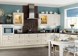 kitchen colors with off white cabinets brown wooden floating