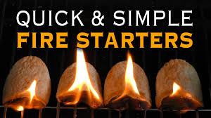 how to start a fire with household items youtube