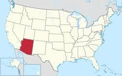 usa map just states arizona
