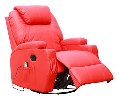 recliners chairs u0026 sofa massage leather sofa electric red bonded