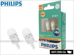 new philips ultinon 194 led 12 v bulbs 194aulax2 pack of 2