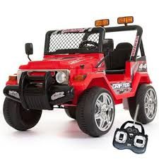 12v Red Two Seater Off Road Kids Electric Jeep 199 95 Kids