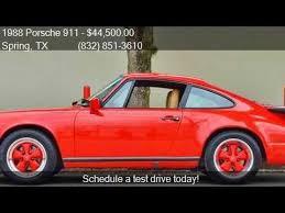 1988 porsche 911 coupe for sale 1988 porsche 911 2dr coupe for sale in tx 77