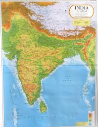 India On Map by Physical Map Of India India Pinterest India