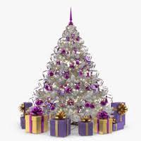 3d illustrative christmas tree comic model