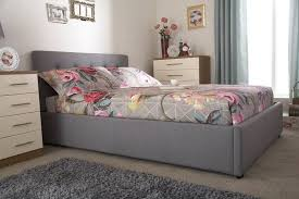 Grey Upholstered Ottoman Bed Gfw Regal 4ft6 Grey Upholstered Fabric Ottoman Bed Frame By Gfw
