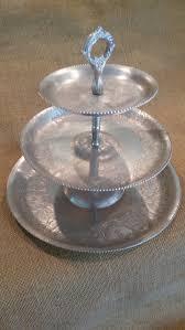 tableware rental 3 tiered hammered aluminum tray take on vintage rental gallery