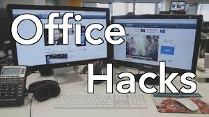 Organized Office Desk Work Office Hacks That Will Make You More Efficient At Work Youtube