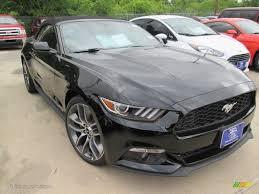 Black 2015 Mustang 2015 Black Ford Mustang Ecoboost Premium Convertible 105990144