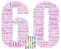 sixty birthday ideas personalized 60th birthday gift 60th birthday word 8 x 10 print
