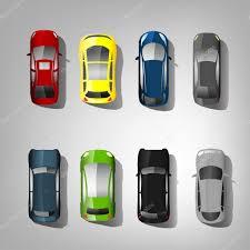 vehicle top view cars top view u2014 stock vector annyart 92196674