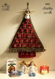 king cole christmas chunky dk knitting pattern advent calendar