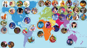 World Map Cartoon by This World Map Shows Where Every Disney Movie Is Set