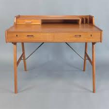 danish modern secretary desk mid century modern desk danish teak work desk