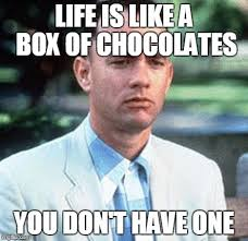 Life Is Like A Box Of Chocolates Meme - forrest gump imgflip