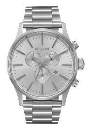 Silver Accessories Sentry Chrono Men U0027s Watches Nixon Watches And Premium Accessories