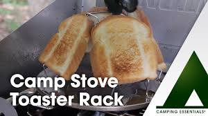 Camp Toaster Toasty Camp Stove Toaster Rack Youtube