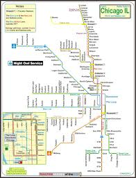 Map Of Cta Chicago by Chicago Cta Railfan Guide