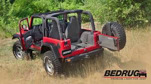 Jeep Wrangler Waterproof Interior New Bedrug U0026 Bedtred Premium Liners For Jeep Youtube