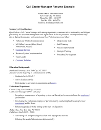 Example For Resume Skills by Resume Sample For Call Center Customer Service Representative