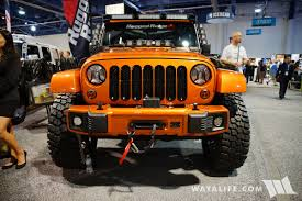 orange jeep cj 2017 sema rugged ridge orange jeep jk wrangler unlimited