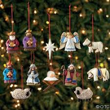 advent nativity ornament set it s beginning to look a lot like
